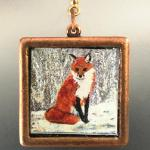 FOX PENDANT copper square $80.00