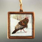 TURKEY PENDANT copper square 85.00