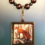 autumn vixen standing copper square $85.00 brown pearl necklace available