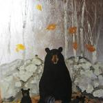 "Bear Family Listens to Talking Leaves  48""hx36""w"