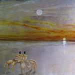 "Ghost Crab with Sun Moon and Stars  15""hx30""w"